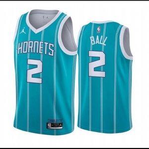 ♨Men's Charlotte Hornets #2 LaMelo Ball Jer